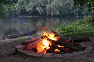 Bonfire at the New River