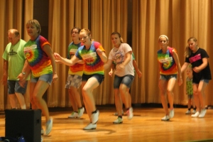 The Center Stage Cloggers shared their dancing at Culture Night.